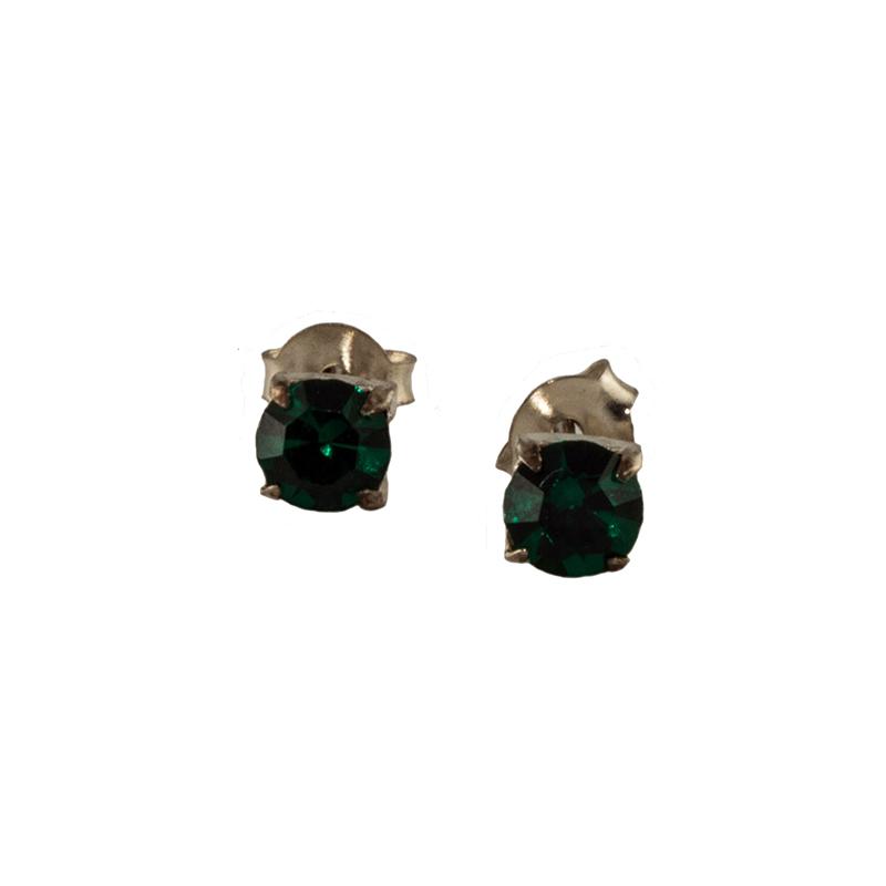 örhängen med grön sten